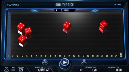screenshot SlotDice Yahtzee-style dobbelspel