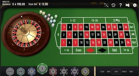 screenshot roulette ter illustratie roulette regels en inzetmogelijkheden