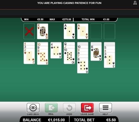 Online patience in het casino spelen