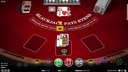 Face Up 2 blackjack screenshot