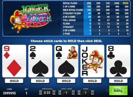 screenshot joker poker