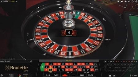 screenshot live roulette met overzicht hete nummers en koude nummers
