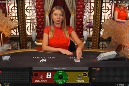 Online Dragon Tiger of in het live casino