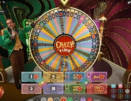 Live casino Crazy Time screenshot