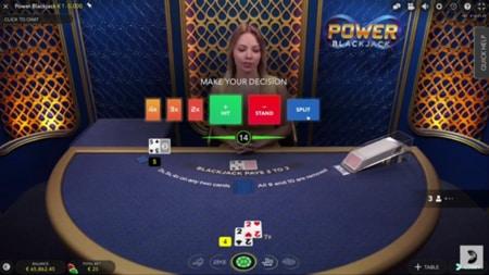 Power blackjack screenshot